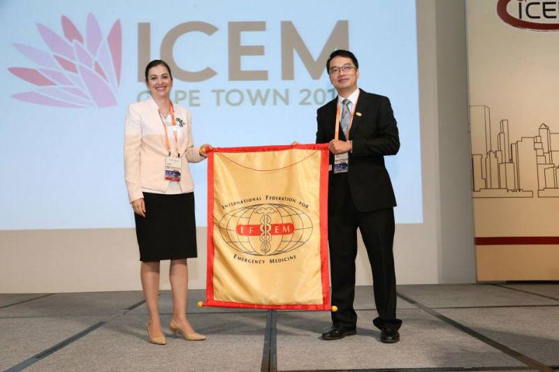 EMSSA receiving the IFEM handover for ICEM 2016 from Hong Kong